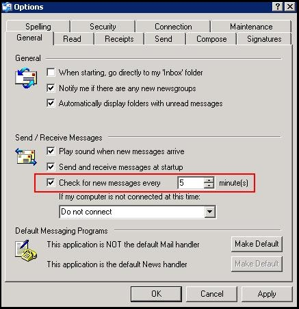 Under Send Receive Messages Select The Option That Is Highlighted